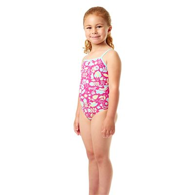 Speedo Essential Frill Infant Girls Swimsuit - Side View