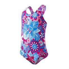 Speedo Fantasy Flowers All Over 1 Piece Infant Girls Swimsuit