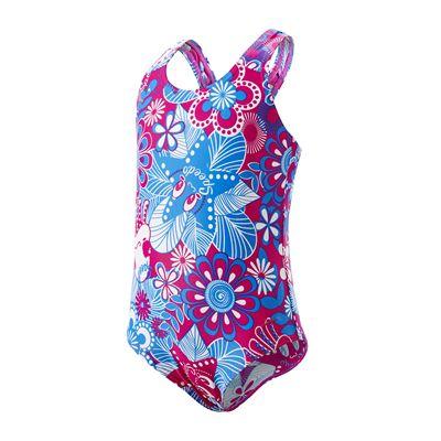Speedo Fantasy Flowers All Over 1 Piece Infant Girls Swimsuit