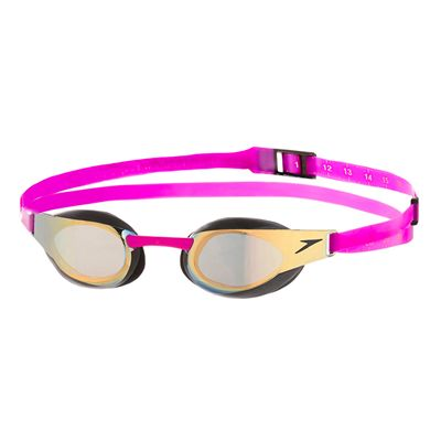 Speedo Fastskin3 Elite Goggle Mirror Goggles-Gold-Purple-Front