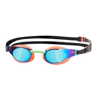 Speedo Fastskin3 Elite Mirror Swimming Goggles -Orange And Green