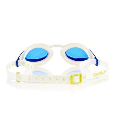 Speedo Fastskin3 Elite Goggle -White-Blue-Back