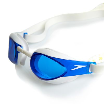 Speedo Fastskin3 Elite Goggle -White-Blue-Side