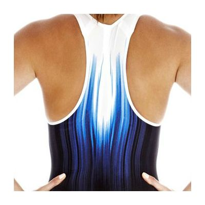 Speedo Fastskin3 Ladies Super Elite Recordbreaker Closed Back Kneeskin Suit - Zoomed Back