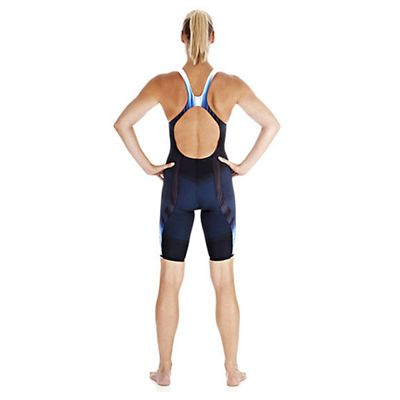 Speedo Fastskin3 Ladies Super Elite Recordbreaker Kneeskin Suit - Back View