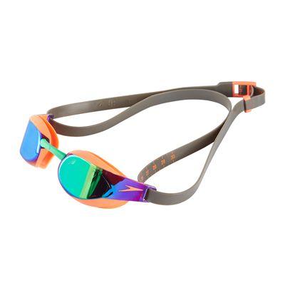 Speedo Fastskin Elite Mirror Swimming Goggles - Grey/Green