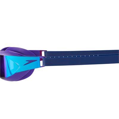 Speedo Fastskin Elite Mirror Swimming Goggles - Purple/Blue - Side