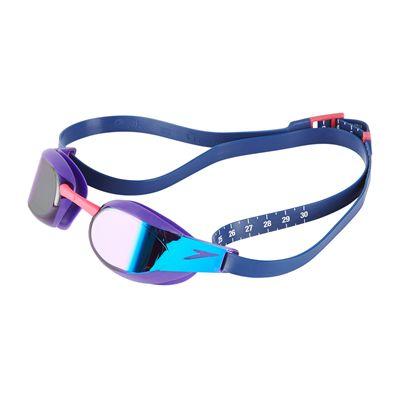 Speedo Fastskin Elite Mirror Swimming Goggles - Purple/Blue