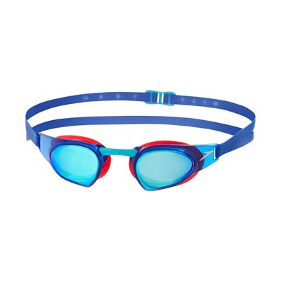 Speedo Fastskin Prime Mirrored Swimming Goggles-Blue-Red-Blue