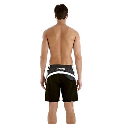 Speedo Finn Splice 18 Inch Mens Watershort - Black - Back View