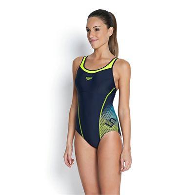 Speedo Fit Racerback Ladies Swimsuit - Left Side View