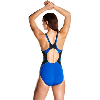 Speedo Fit Splice Muscleback Ladies Swimsuit AW17 - Blue - Back