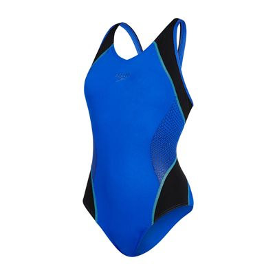 Speedo Fit Splice Muscleback Ladies Swimsuit AW17 - Blue