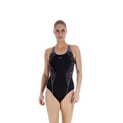 Speedo FluidAction Placement Kickback Ladies Swimsuit