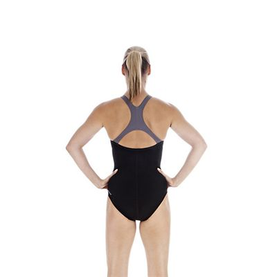 Speedo FluidAction Placement Kickback Ladies Swimsuit back