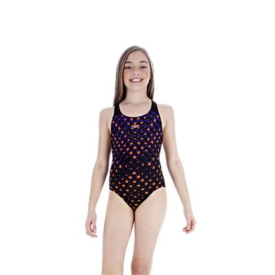 Speedo FluidBlade Placement Slideback Girls Swimsuit