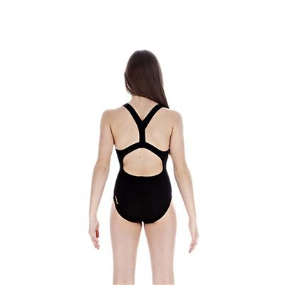 Speedo FluidBlade Placement Slideback Girls Swimsuit back