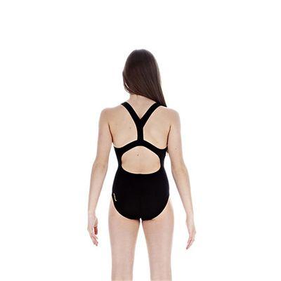 Speedo FluidBlade Placement Slideback Girls Swimsuit back