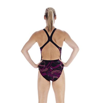 Speedo FluidSprint Allover Powerback Ladies Swimsuit back