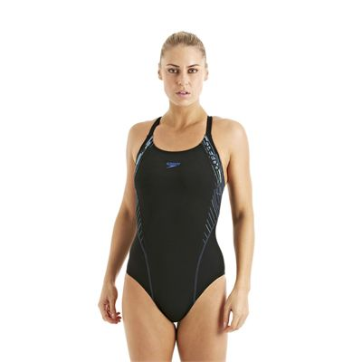 Speedo FocusBlade Kickback Ladies Swimsuit Black