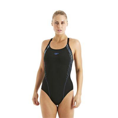 Speedo FocusBlade Kickback Ladies Swimsuit Black