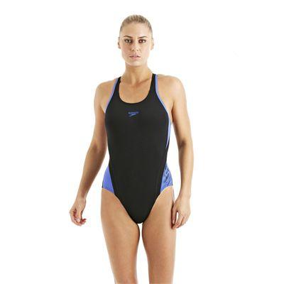 Speedo FocusFlux Medalist Ladies Swimsuit black