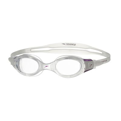 Speedo Futura BioFuse Swimming Goggles-Clear-Purple