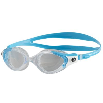 Speedo Futura Biofuse Flexiseal Ladies Swimming Goggles - Blue-Clear
