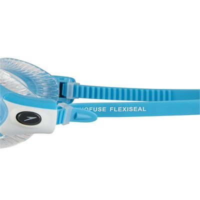 Speedo Futura Biofuse Flexiseal Ladies Swimming Goggles - Blue-Clear - Side