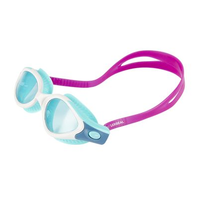 Speedo Futura Biofuse Flexiseal Ladies Swimming Goggles - Pink-White - Front