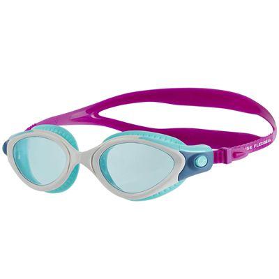 Speedo Futura Biofuse Flexiseal Ladies Swimming Goggles - Pink-White