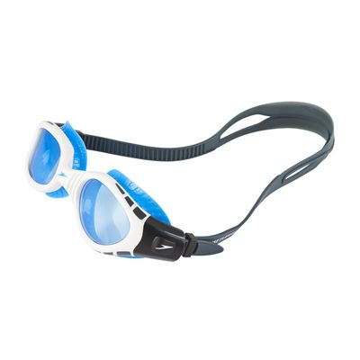 Speedo Futura Biofuse Flexiseal Swimming Goggles - Grey-Blue - Front