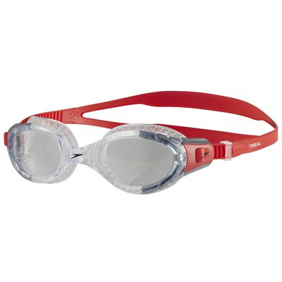Speedo Futura Biofuse Flexiseal Swimming Goggles - Red-Clear