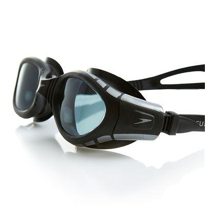 Speedo Futura BioFuse Swimming Goggles-Smoke-Black-Side