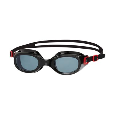 Speedo Futura Classic Swimming Goggles-Red-Smoke