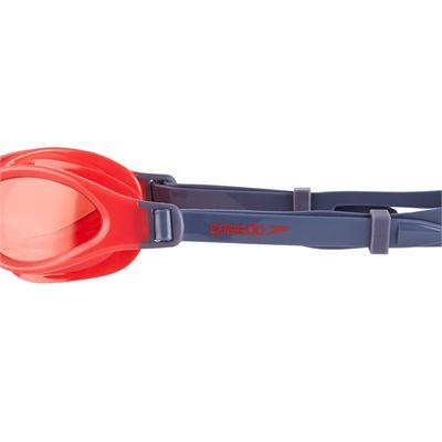 Speedo Futura Plus Junior Swimming Goggles - Grey/Red - Zoomed2