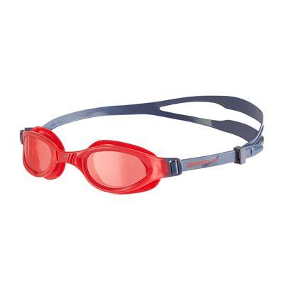 Speedo Futura Plus Junior Swimming Goggles - Grey/Red
