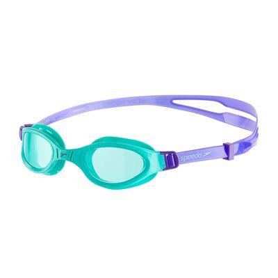 Speedo Futura Plus Junior Swimming Goggles - Purple/Green