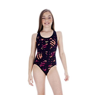 Speedo Girls FluidRise Placement Splashback Swimwear