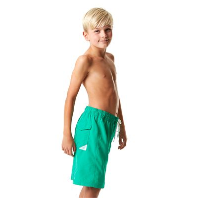 Speedo Graphic Logo 17 Inch Boys Watershorts-Green-Right Side View