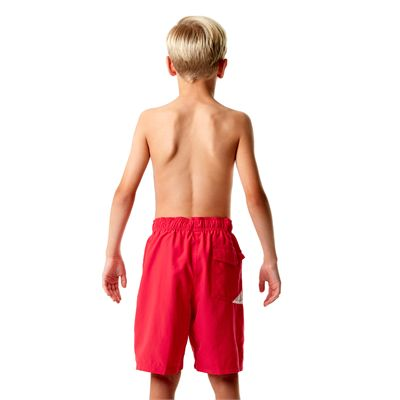 Speedo Graphic Logo 17 Inch Boys Watershorts-Red-Back View