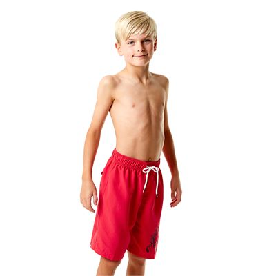 Speedo Graphic Logo 17 Inch Boys Watershorts-Red-Right Side View