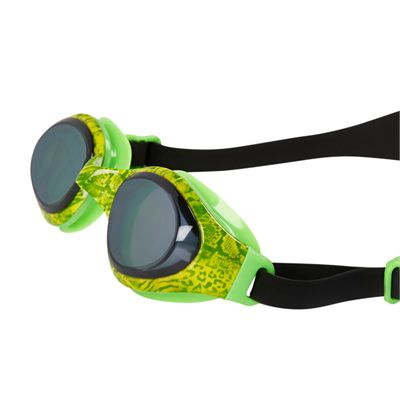 Speedo Holowonder Junior Swimming Goggles-Green-Smoke-Angled