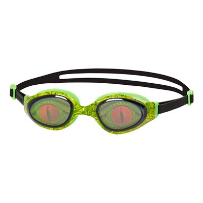 Speedo Holowonder Junior Swimming Goggles-Green-Smoke