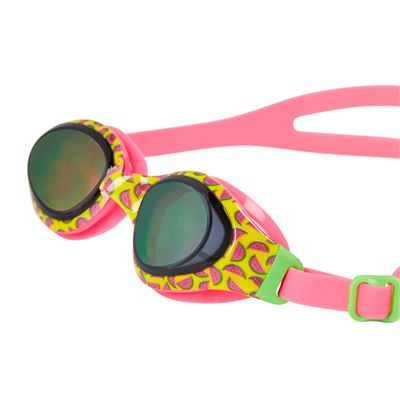 Speedo Holowonder Junior Swimming Goggles-Pink-Smoke-Angled