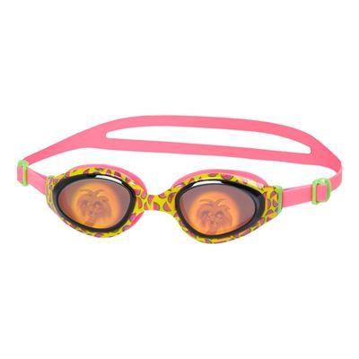 Speedo Holowonder Junior Swimming Goggles-Pink-Smoke
