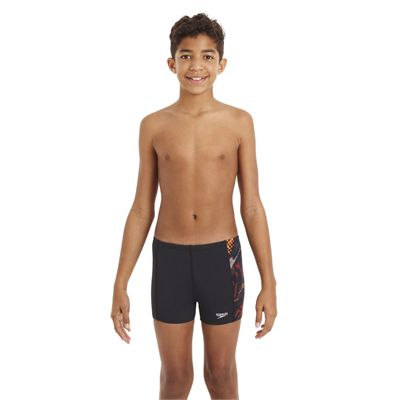 Speedo HydroTurn Allover Panel Boys Aquashort - Front View