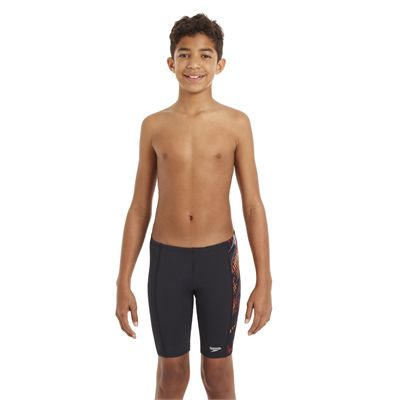 Speedo HydroTurn Allover Panel Boys Jammer - Front View