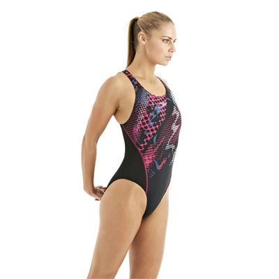 Speedo HydroTurn Placement Recordbreaker Ladies Swimsuit black 4
