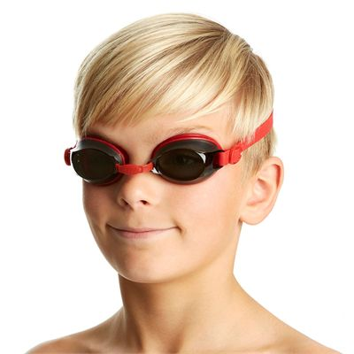 Speedo Jet Junior Swimming Goggles - Red - In Use1